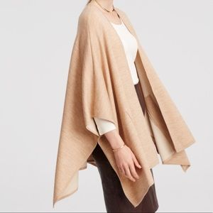 Ann Taylor Pocket Cape in Camel, Sweater Material